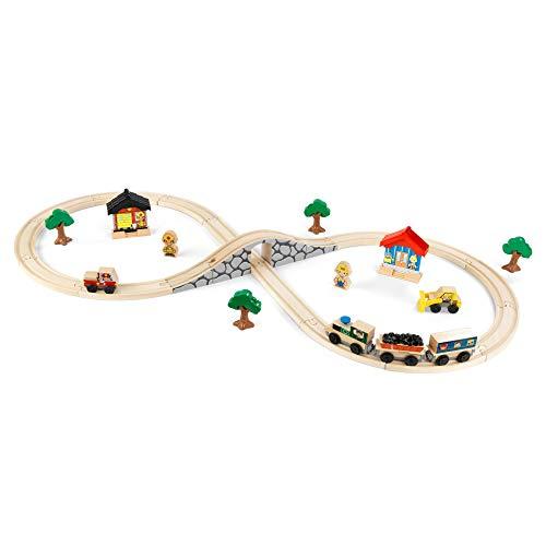 KidKraft Figure 8 Train Set, Gift for Ages 3+