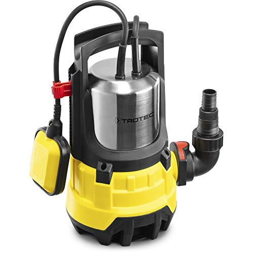 TROTEC Schmutzwasser-Tauchpumpe TWP 11000 ES IPX8 Schutzart, 1.100 W Leistung, 20.000 l/h Förderleistung, 9 m Förderhöhe