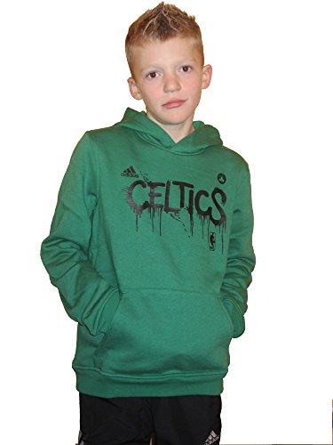 adidas Boston Celtics G85326 Y GFX - Sudadera con capucha (talla 140), color verde