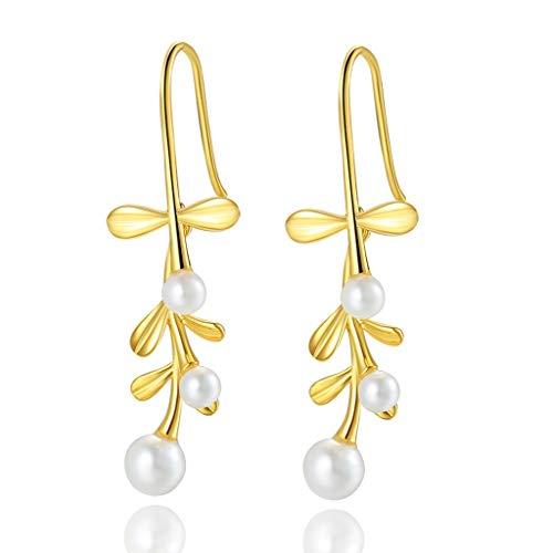 Pendiente De la vendimia pendientes largos pendientes de las mujeres-la Perla premium accesorio perfecto for cualquier ocasión de la fiesta de fin de curso de la boda pendiente de la joyería delicada
