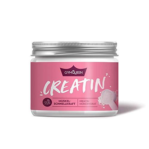 GymQueen Creatin 300g | reines Kreatin Monohydrat Pulver | Muskelaufbau & Fitness | 60 Portionen | Geschmacksneutral