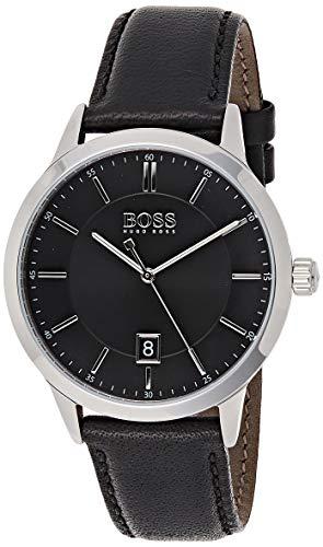 Hugo Boss Herren Analog Quarz Uhr mit Leder Armband 1513611