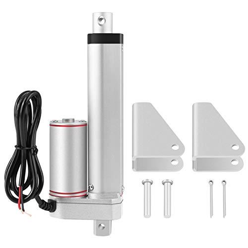 LANTRO JS - Actuador lineal de 150 mm de carrera 24 V Actuador lineal eléctrico de línea recta 750N de alta resistencia para sistema de elevación eléctrica industrial