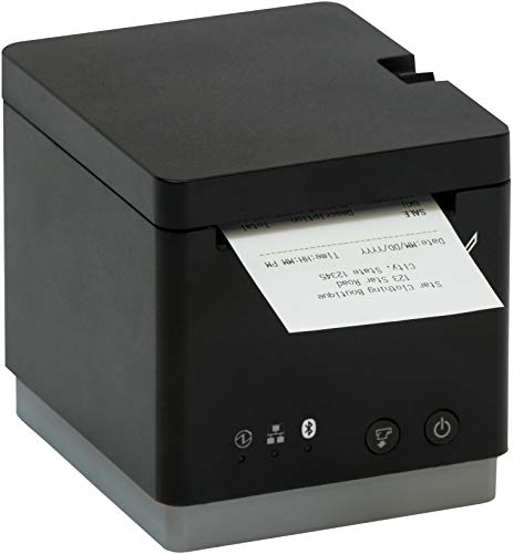 Star Micronics mC-Print2 2-inch Ethernet (LAN) / USB / Bluetooth / Lightning Thermal POS Printer with CloudPRNT, Peripheral Hub, Cutter, and External Power Supply - Black