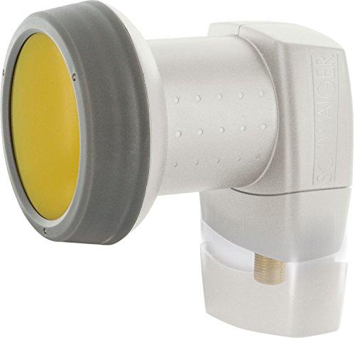 SCHWAIGER -302- LNB singolo con protezione solare | 1 partecipante | cappuccio LNB estremamente resistente al calore | alimentazione multipla con protezione dalle intemperie e contatti placcati in oro