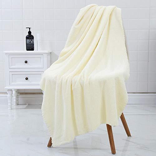 huowu Absorbente Toallas de baño for Adultos Grandes Toallas de baño Body SPA Deportivos de Lujo de baño de Microfibra Toalla 140x70cm (Color : Beige, Size : 70x140cm)
