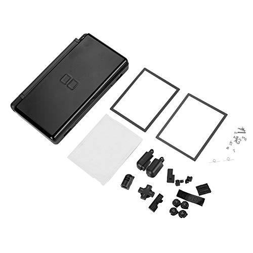 Carcasa de Repuesto Carcasa de Carcasa para Nintendo DS Lite Piezas de reparación Completa(Negro)