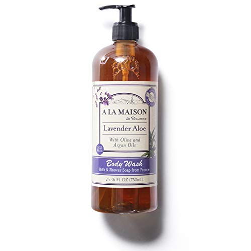 A La Maison Natural Body Wash Lavender Aloe Scent   Moisturizing and Hydrating   Triple French Milled   Body Soap for Women and Men (25.36 Fl Oz)