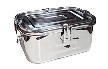 Stainless Steel 101oz 3L Rectangular Seal Kimchi Food Leakproof Airtight Storage Container Saver