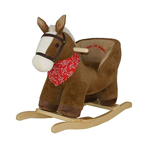 solini Le cheval à bascule avec son, brun