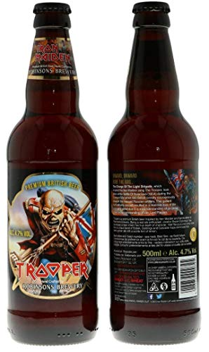 Robinsons Brauerei Iron Maiden Trooper Premium-British Beer 500ml (Packung mit 8 x 500 ml)