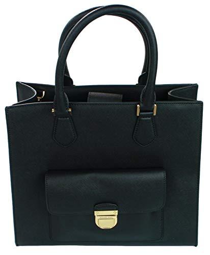 Michael Kors Bridgette Shopper Tote Bag Medium Borsa Saffiano Pelle, Nero (Nero ), Medium