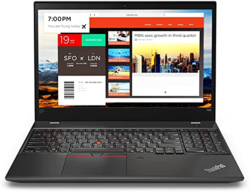 """Lenovo Thinkpad T580 Notebook - Intel i7-8650u Quad 1.9 GHz (Max 4.2GHz), 15.6"""" FHD Touch Display, 16GB DDR4, 512GB SSD, HDMI, USB3.1, USB-C, WLAN-AC, BT , FPR, Backlit Keyb., W10P (Renewed)"""