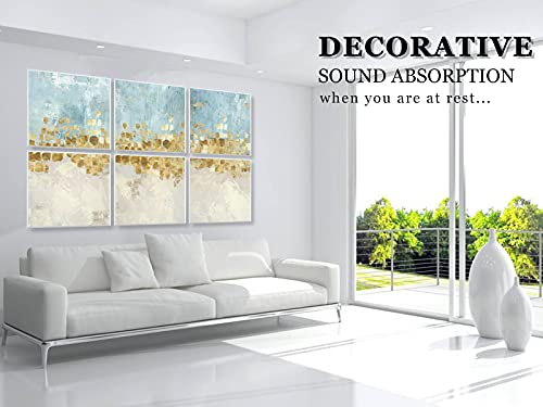 """BUBOS Art Acoustic Panels,72""""x48""""inch Premium Acoustical wall panel,Better than foam, Decorative Sound Absorbing Panel for walls, Studio Acoustic Treatment. Soundproof wall panel,Dancing Stars"""