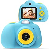 VanTop Junior K5 Kids Camera, 1080P HD Mini Video Camera for Children W/ 32GB Memory Card, 8mp Selfie Len, 2' IPS Screen, Card Reader, Carrying Bag, Cartoon Sticker, Lanyard