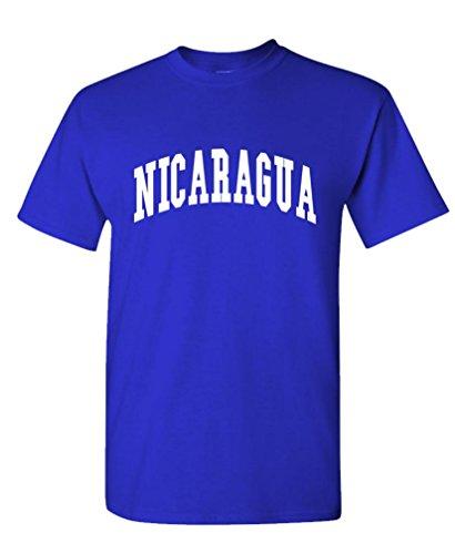 Nicaragua - Country Pride Homeland Nation - Mens Cotton T-Shirt, M, Royal