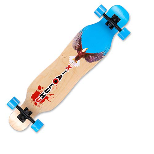 SYCHONG 41-Zoll-Longboard, Komplett-Skateboard, Camber Concave, Für Kinder, Erwachsene, Anfänger, Mit ABEC-11-Kugellagern Für Den Pendelverkehr, Carving, Freestyle, Freeride,6