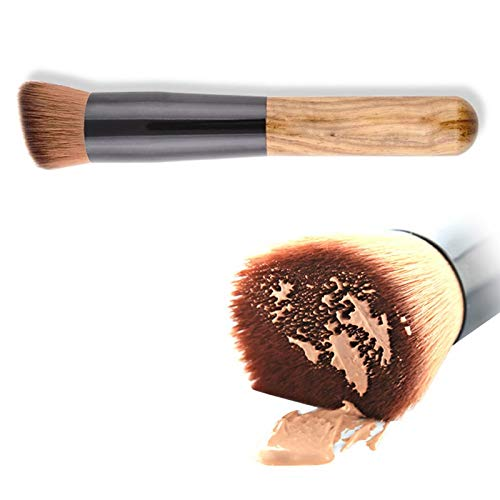 Baobao 1pc Top Fondation Universal Maquillage Incliné Brosse avec poignée Willow