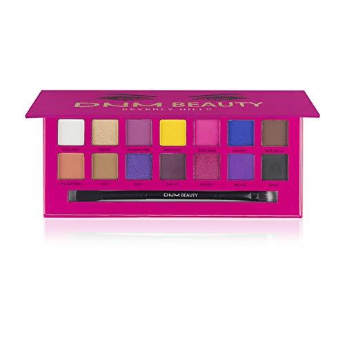 ARTIFUN Paleta de Sombra de Ojos Luminosa de 14 Colores Sombra de Ojos Mate Resistente a Prueba de Manchas de Larga Duración Maquillaje Pesado