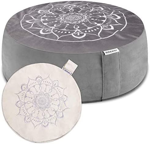 Hihealer Meditation Cushion with Extra Free Cover 16 x16 x5 Meditation Pillow Filled with Buckwheat product image