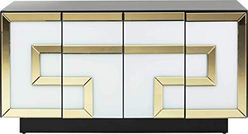 Sideboard Elite, exclusives Sideboard, Sideboard gold- weiß, Luxus Sideboard, edeles Sideboard, (H/B/T) 70x140x45cm