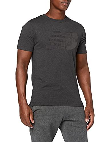 New Balance Camiseta clásica hombre, Hombre, Camiseta, MT03919, Carbón jaspeado, XXL
