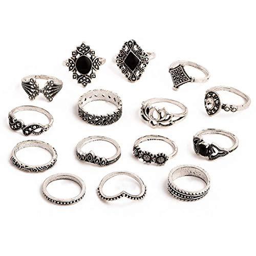 Cremación Memorial Retro belleza de cristal de diamante del sistema del anillo del patrón del amor de Fátima Anillo palma anillo fijado for el traje de las mujeres en forma de Porro Cremation Jewelry