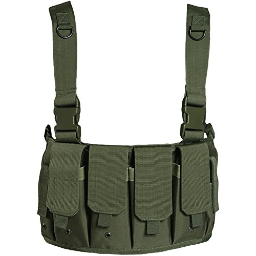 Military Airsoft Tactical Mag Carrier Combat Chest Rig Army Pouches Police...