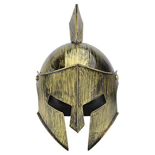 ifundom Viking Helmet Golden PVC Medieval Viking Warrior Horns Hat Pirate Cap Gladiatus Hat Dress up Cosplay Party Costume Accesorio para El Festival de Vacaciones de Carnaval
