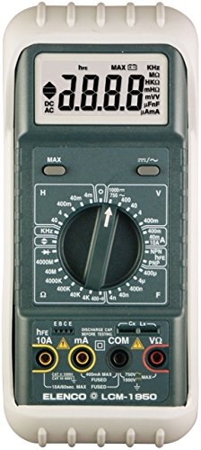 Elenco LCM-1950, 4000 Count Digit Autoranging Digital Multimeter with Leads & Holster, Pack of 3 pcs