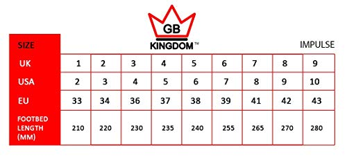 Kingdom GB Impulse Holographic Quad Wheels Girls Womens Roller Skates (Silver, 4 UK)