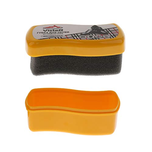 Sharplace Cepillo de Zapatos de Cera Herramienta de Cepillo rápido Limpieza Filtro de Polvo Polaco Esponja Brillo