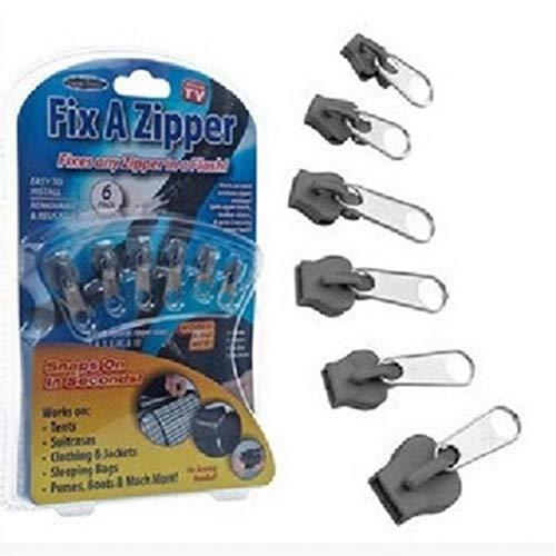Amoyer 6pcs Universale istantaneo Fix Zipper di Riparazione Kit di Sostituzione Zip Cerniere a Denti Slider