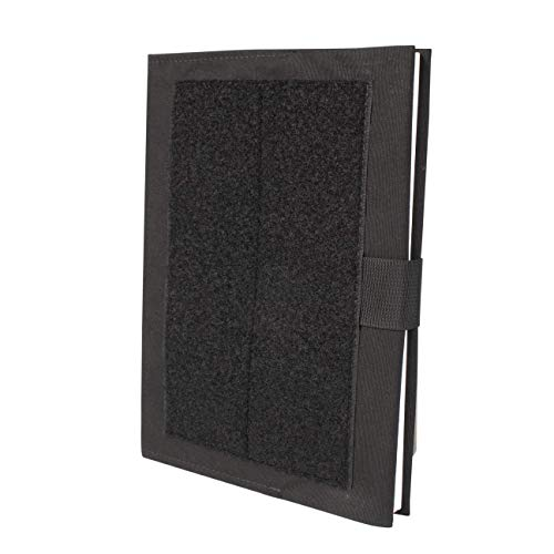 """TACTICAL NOTEBOOK COVERS.COM Customizable Large Army Green Book Cover/Fits The US Military's Large Greenbook (NSN 7500-00-222-3525) and notebooks 10.5"""" Tall x 8"""" Wide (in Black)"""