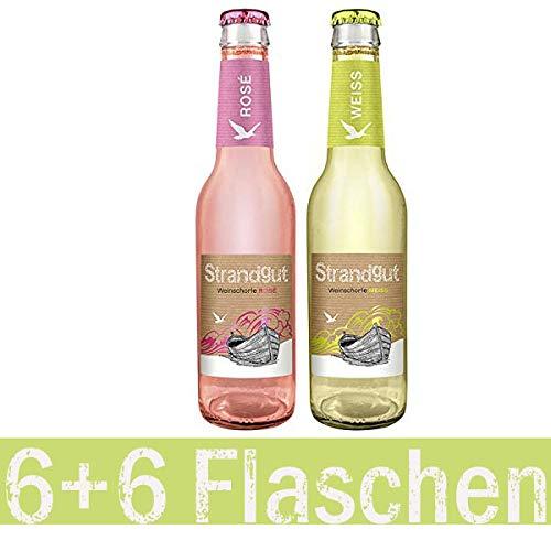Weinschorle Strandgut rosé und weiß (12 x 0.275 l)