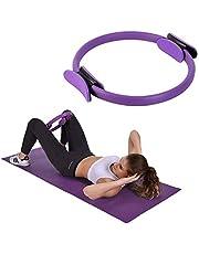 Chanhan Core Balance Pilates Resistance Ring, Dual Grip Magic Oefening Cirkel, Dubbel Handvat Dij Arm Toner, Fysieke Therapie Tool, 15 Inch