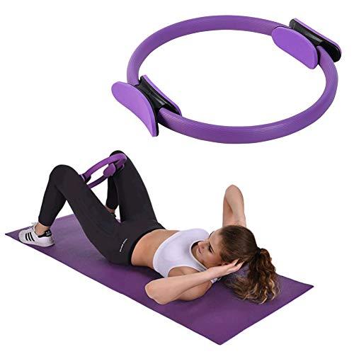 Pilates Ring Widerstandsring, Doppelgriff Pilates Yoga Rings, Exercise Ringe, Dual Grip Magic Übungskreis, für Fettverbrennung, Core-Training, Oberschenkeltrainer