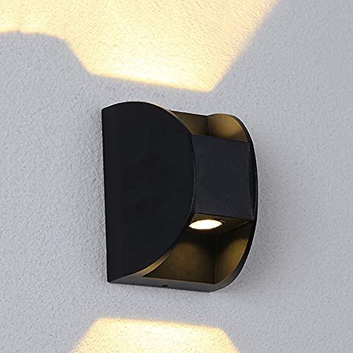 YHBHNB Lámpara LED de Pared de Doble Cabeza para Exteriores, Foco de Pared Exterior, lámpara de arandela de Pared para Patio Impermeable al Aire Libre, lámpara de Pared para decoración de balcón