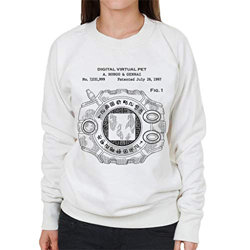 Cloud City 7 Digimon Digital Virtual Pet Patent Women's Sweatshirt