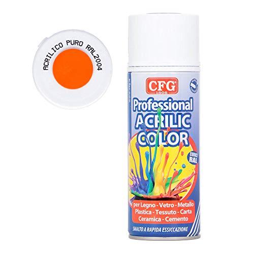 Bomboletta spray acrilico professionale ARANCIO PURO