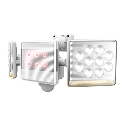 ムサシ RITEX フリーアーム式高機能LEDセンサーライト(12W×2灯) 「コンセント式」 LED-AC2030 ホワイト