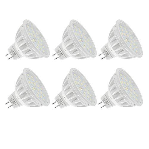 5.5W MR16 LED Lampen Gu5.3 Strahler,Neutralweiß 4000K,Ersetzen 60W Halogen Lampe,DC12V 600LM Ra85,6er Pack.