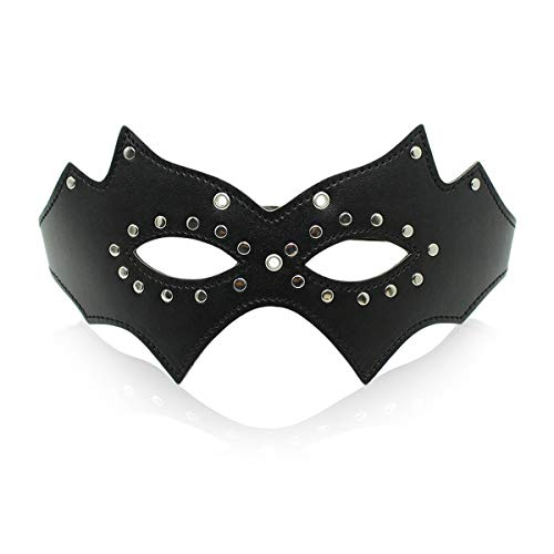 Sex Toys Batman Masker Rivet leren masker Lekkende Eye Mask Couple Toys Cosplay Masquerade ZHQHYQHHX (Size : Black)