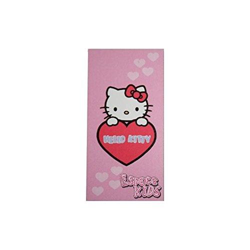 Hello kitty - Toalla de playa (75 x 150 cm), color rojo y rosa
