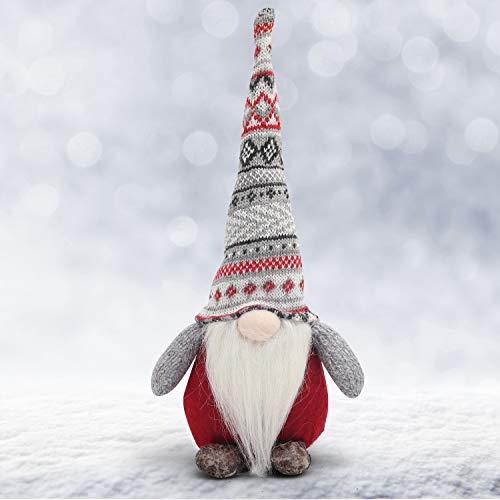 BELLE VOUS Weihnachtswichtel - 35cm Wichtel Figur Nikolaus aus Plüsch Kantenhocker Weihnachts Zwerg - Tischdeko Weihnachten – Schwedische Wichtel Puppe Dekofigur für Kamin, Weihnachtsdeko, Kinder