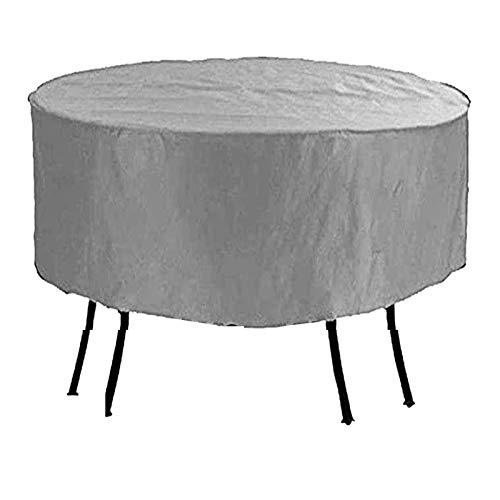 FUSHOU-Funda Protectora Muebles Jardín Antiarena, cubierta para muebles de patio, protección redonda contra el frío, tela Oxford, mesa y sillas duraderas para exteriores, lona,Gris,108x80cm
