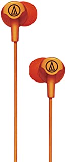 ATH-CLR100 Universal Stereo High-Quality Sounds in-Ear Earphones Music Sports Resisted Stretching Wired Headphones for Phone Tablet (Orange)