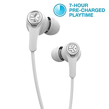 JLab Audio Epic Executive Wireless Active Noise Canceling Earbuds | Bluetooth 4.1 | 11-Hour Battery Life | Universal Music Control | Bluetooth Headphones Travel Case Included | White