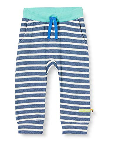 Loud + Proud Striped Pant Organic Cotton Pantalon, Bleu (Ultramarin UL), 74/80 Bébé garçon