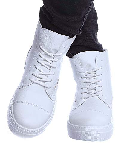 Leif Nelson Herren Schuhe Klassische Stiefel Freizeitschuhe Boots Elegante Winterschuhe Männer Sneakers LN158; 45, Weiß